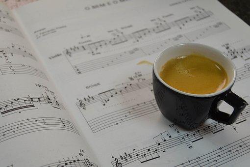 Coffee, Music Sheet, Music, Classical Music, Cup
