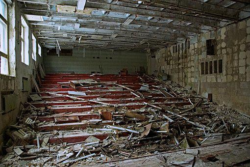 Auditorium, Theatre, Pripyat, Decay, Exclusion Zone