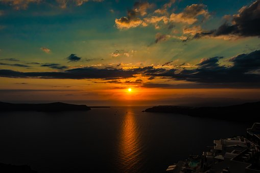 Sunset, Sky, Greece, Nature, Clouds, Evening, Dusk, Sun