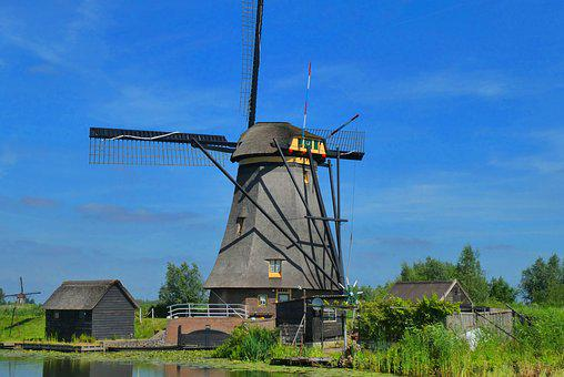 Mill, Kinderdijk, Holland, Netherlands, Wicks
