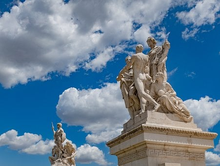 Statue, Rome, Italy, Sculpture, Europe, Roman, Tourism