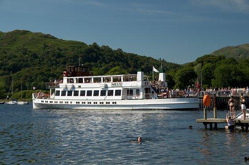 Ambleside, Windermere, Lake, Cumbria, England, Boat