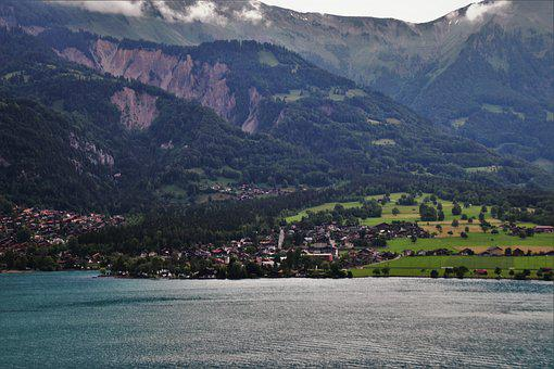 The Alps, Mountains, Landscape, Lake, Far View, Water
