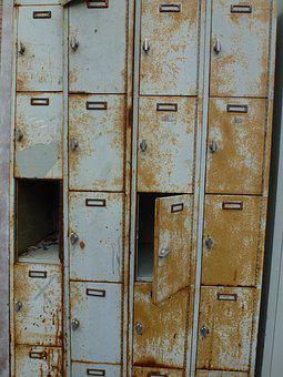 Cabinet, Locker, Rusty, Broken, Old, Rust, Metal