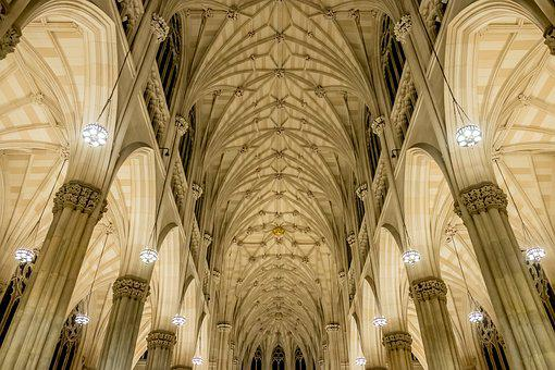 Ceiling, Cathedral, Church, Masons, Construction