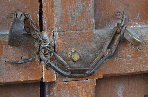 Security, Metal, Castle, Closed, Secure, Iron, Rusted