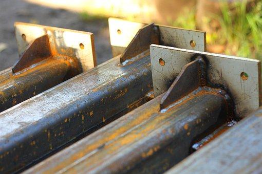 Steel, Iron, Post, Metal, Support, Rust, Rusty Iron
