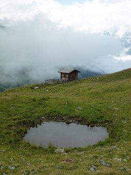 Bergem Alm, Hut, Alm, Landscape, Nature, Mountains