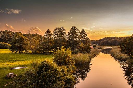 Lake, Water, Evening, Sunset, Nature, Landscape, Sky