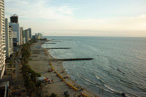 Cartagena, Colombia, Beach, Sea, Ocean, Caribbean
