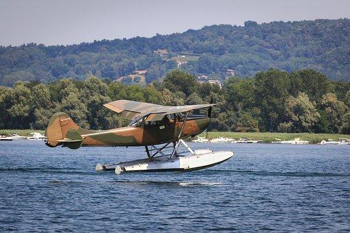 Ditching, Seaplane, Water, Sea, Lake, Nature, Plane