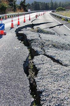 Road, Earthquake, Damage, Crack, Repairs, Broken
