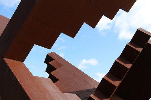 Rust, Sky, Sculpture, Metal