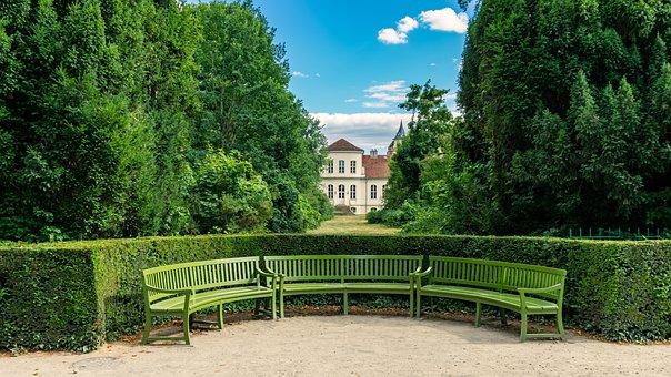 Bank, Seat, Rest, Bench, Half Round, Nature