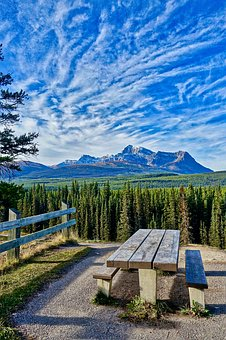 Seat, View, Mountain, Panorama, Horizon, Rockies