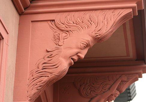 Roof Support, Sculpture, Stonemason Work, Sand Stone