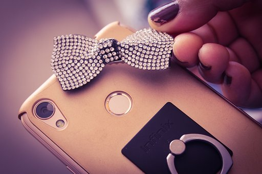 Android Phone, Smart Phone, Lens, Decoration, Bow