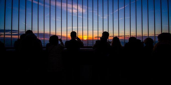 Stuttgart, Antenna, Viewpoint, Sunset, Backlight