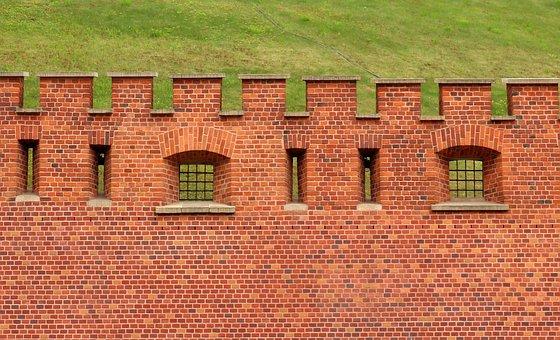 Lake Dusia, Walls, Architecture, Brick, Pattern, Facade