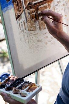 Figure, Canvas, Brush, Artist, Art, Creativity, Color