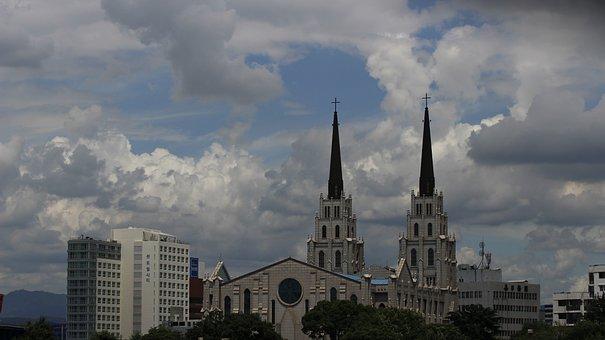 Daegu Jeil Church, Church, Cloud, Cloudy Day, Sky