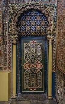 Door Old, Style Arabesque, Carved Wood, Door, Carving