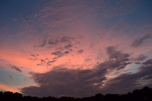 Sunset, Sky, Clouds, Light, Sun, Evening, Dusk, Nature