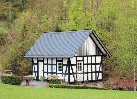 Bottrop Germany, Rothaargebirge, Fachwerkhaus, Nature