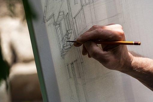 Figure, Canvas, Pencil, Artist, Art, Creativity