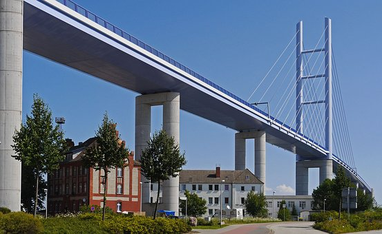 Rügen Bridge, Overbuilt, Ramp, Bridgehead, Homes