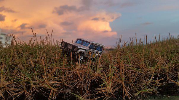 Toys, Hotwheels, Car, Jeep, Landrover, Brown Car