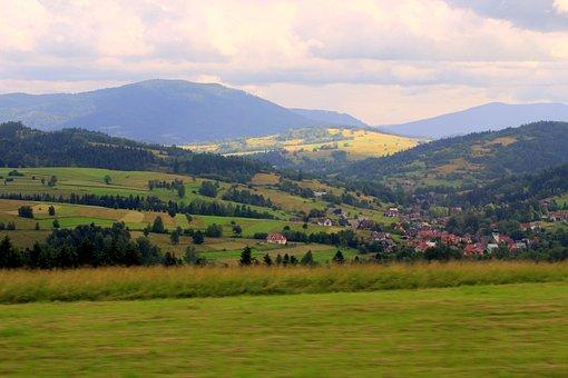 Landscape, View, Panorama, Mountains, Nature, Panoramic