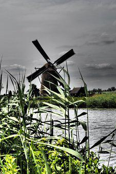 Windmill, Holland, Netherlands, Mill, Historically
