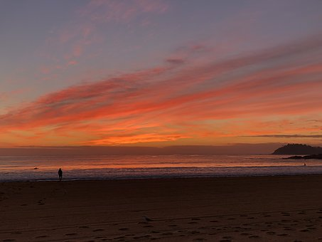 Dawn, Early Morning, Ocean, Landscape, Morgenstimmung