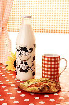 Milk, Cup, Drink, Mug, Food, Morning, Table, Calories