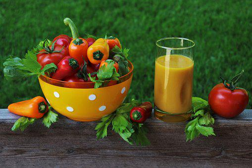 Vegetables, Juice, Bio, Organic, Nutrition, Paprika