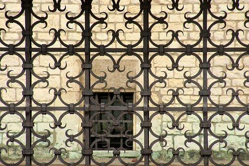Trellis, Ornament, Geometric, Pattern, Old, Antique