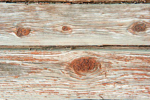 Old Tree, Orange, Boards, Brown, Texture, Background