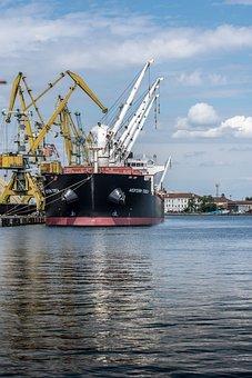 Ship, Port Burgas, Sea, Port, Water, Harbor, Burgas