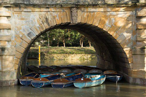 Oxford, Magdalen Bridge, River, River Cherwell