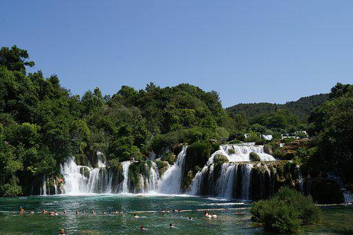 Krka, Croatia, Waterfall, Nature, Water, Tourism, River