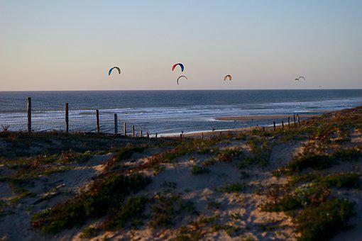 Sea, Ocean, Kites, Water, Nature, Costa, Sand