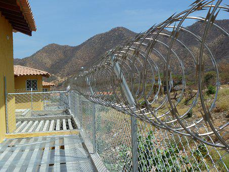 Concertina, Enclosure, Security, Metal