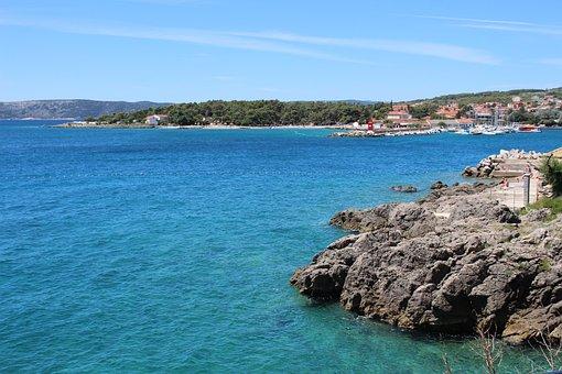 Vrbnik, Croatia, Sea, Water, City, Landscape, Sky