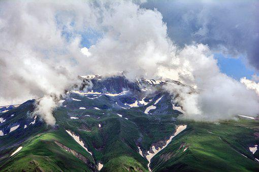 Mountain, Summit, Nature, Taylor, Sky, High, Clouds