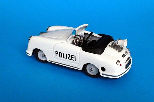 Car Model, Model Car, Toys, Tin Toys, Police