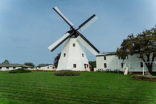 Windmill, Garden, Home, Tree, Meadow, Tower Windmill