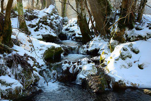 Winter, Water, Ice, Snow, Germany