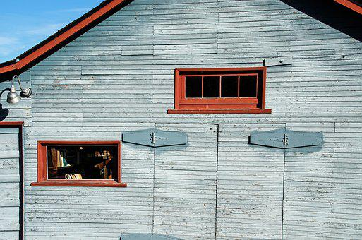 Work Shed, Background, Barn, Red, Texture, Old
