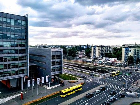 City, Europe, Poland, Street, Busy